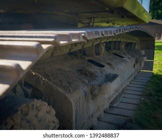 excavation tractor equipment on jobsite