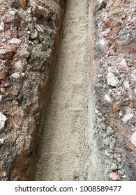 Excavation work for piping or electrical routing site work construction