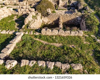 Excavations of the ancient Phoenician city of Shikmona, on the shores of the Mediterranean Sea, Haifa, Israel.