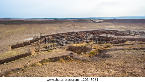 Excavations of the an old city in the desert