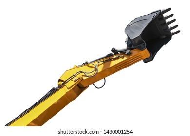 excavator bucket for construction and repair works isolated on white background