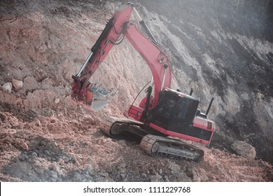 excavator. earth mover.