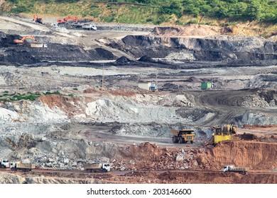 Excavator at the lignite opencast mining