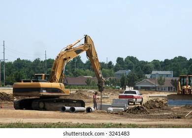Excavator at a local job site.