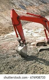 Excavator on construction site