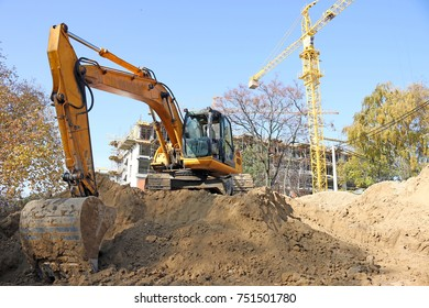 excavator on construction site industry