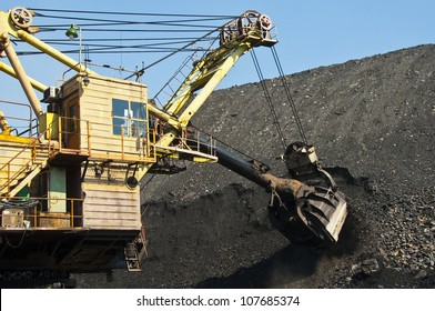 Excavator, production useful minerals,