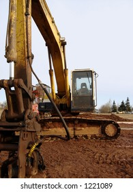 Excavator at the work site.