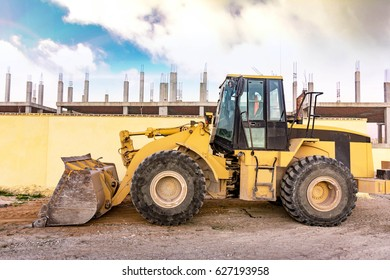 Excavator working on a construction site