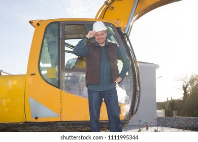 Excavators machine is heavy construction machine used excavate soil at the construction by man worker