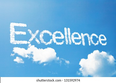 excellence a cloud  massage on sky