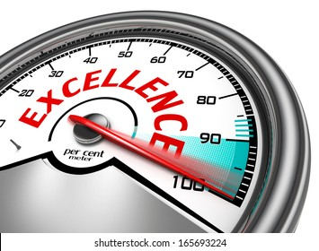 excellence conceptual meter isolated on white background