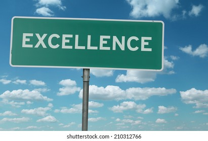 Excellence creative sign