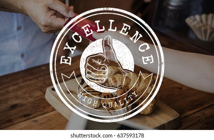 Excellence High Quality Approved Stamp Graphic