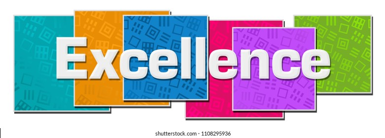 Excellence text written over colorful background.