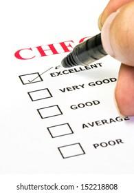 Excellent experience checkbox in checklist survey