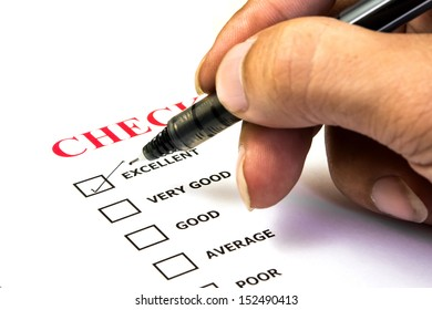 Excellent experiment check box in check list survay