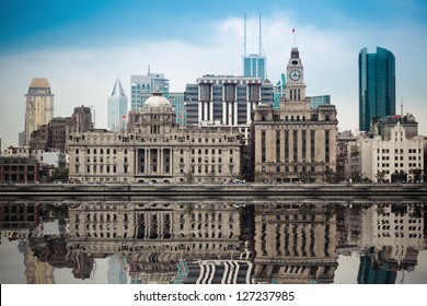 excellent historical buildings in shanghai with reflection
