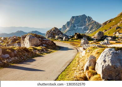 Excellent summer day in the Durmitor National park. Location place Sedlo pass, village Zabljak, Montenegro, Balkans, Europe. Scenic image of popular travel destination. Discover the beauty of earth.