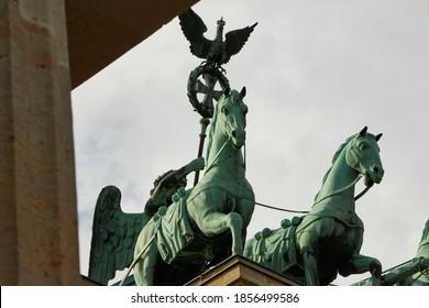 Excerpt of the Quadriga at the Brandenburg Gate in Berlin