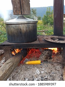 An excerpt from village life. Fresh Corn and Fire