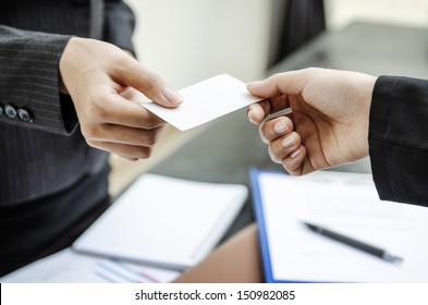 Exchange business card for first time meet