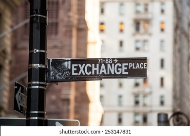 Exchange Place sign in New York City