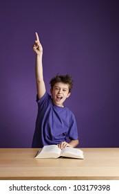 Excited School Boy