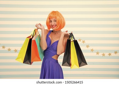 Excitement. happy woman go shopping. Crazy girl with shopping bags. Last preparations. big sale in shopping mall. Happy shopping online. Happy holidays. Fashion. Black Friday sales. why not.