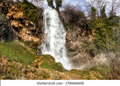Exciting and powerful waterfalls in Edessa, northern Greece