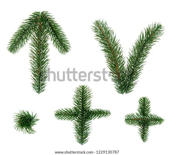 Christmas Arrow Signs.Exclamation Mark Question Mark Arrow Signs Stock Photo Edit