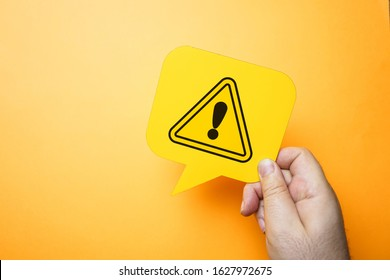Exclamation mark, warning and safety concept