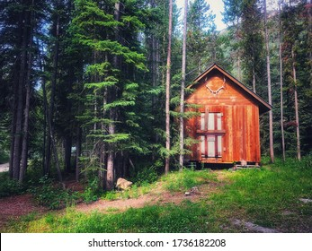 An excluded wooden shack in the wilderness of British Columbia, Canada.