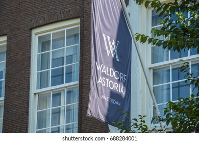 Exclusive Waldorf Astoria Hotel in Amsterdam - AMSTERDAM / THE NETHERLANDS - JULY 18, 2017