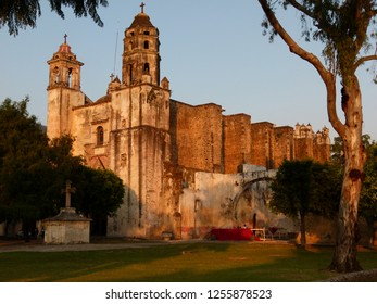 Tepoztlán ex-convent built by Dominic order during mid XVI century. With a beautiful facade. Located at south of México city. Grat meals at town.