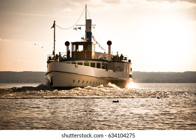 Excursion boat on Ammersee, Germany