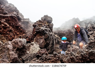 An excursion on the Etna, Sicily, Italy