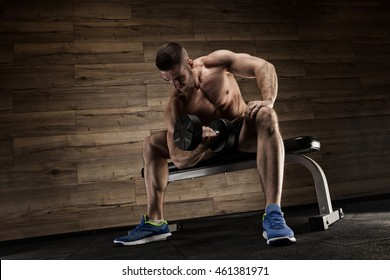 execute exercise with dumbbells