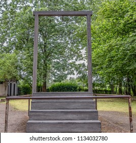 Execution platform in Auschwitz concentration and extermination camp where was hanged in 1947 Rudolf Höss (Rudolf Hoss) following a trial in Warsaw. He the was Nazi German SS lieutenant colonel there