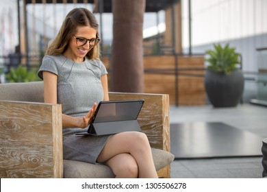 Executive business person using mobile internet technology to connect online while  outside