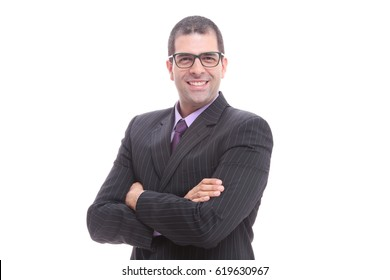 Executive of glasses and tie