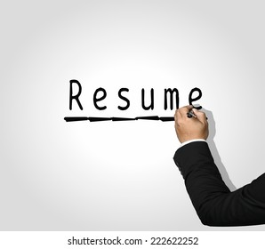 Executive Hand writing Resume