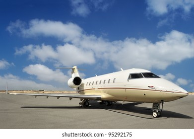 Executive Jet at the Airport