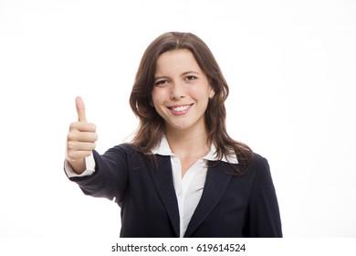 Executive in positive attitude