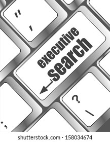 executive search button on the keyboard close-up, raster