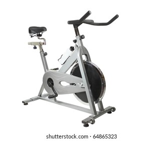 Exercise bicycle  isolated on white