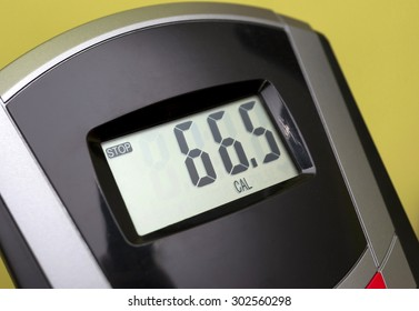 exercise bike display - shows the calories burned