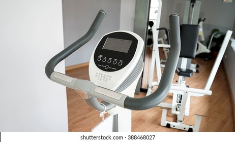 exercise bike in a fittness room
