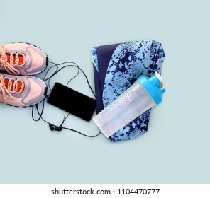 Exercise equipment set /sport shoes, shaker,and smarthone