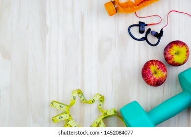 Exercise equipment use to wear workout have measuring tape